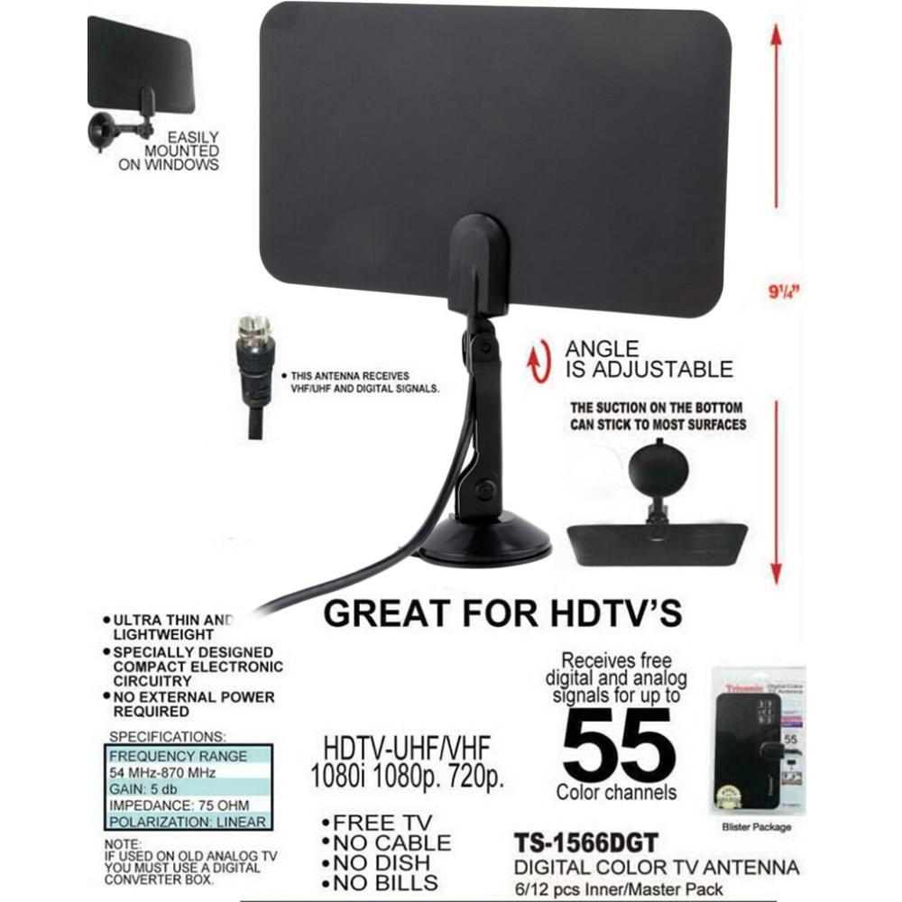 Onleny Digitale Innen-fernsehantenne HD Fd-Design High Gain HD TV Box DTV 54 MHz-860 MHz Hohe qualität Förderung Großhandel Shop