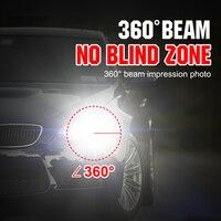מנורות לרכב 2pcs S2 H7 LED 8000LM רכב פנס נורות H1 LED H4 H8 H9 H11 ערכת אורות 9005 HB3 9006 HB4 לרכב LED מנורות DC9-32V אורות ערפל (3)