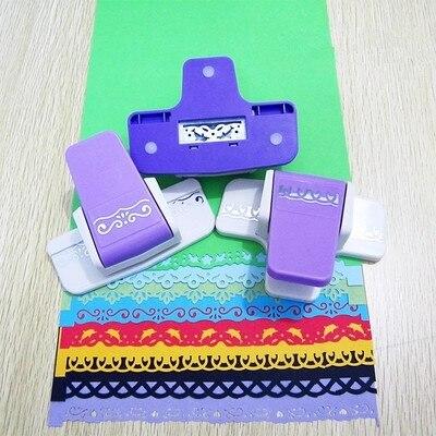 DIY Scrapbooking Paper Cutter Decorative Flower Edge Hole Punch Embossing Stationary for Kids Creative Gift Handmade 02813 diy fondant decorative cutter cake punch set purple