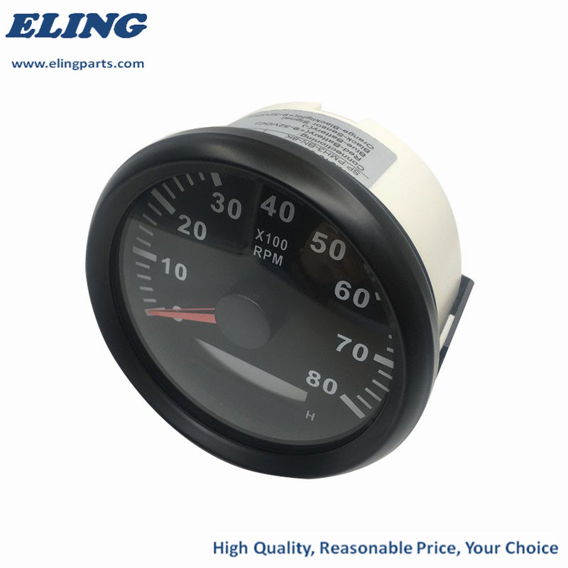 ELING Tachometer RPM Gauge with Hour Meter for Car Truck