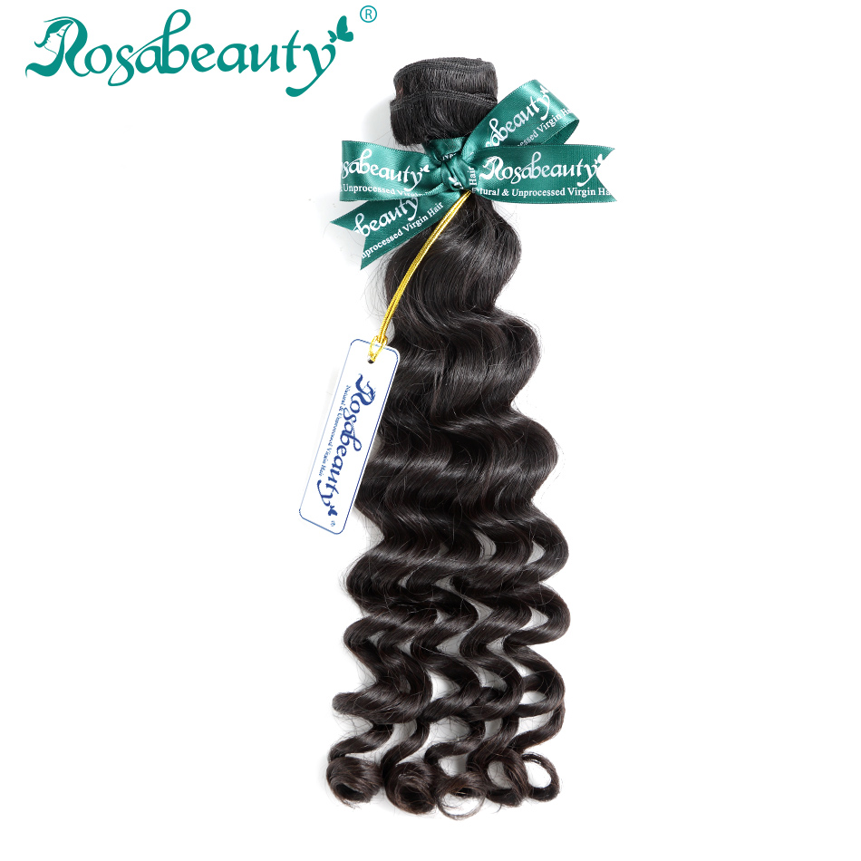 Rosabeauty Hair Grade 10A Indian Virgin Hair 1 3 Pcs Loose Deep Wave Bundles 100 Human