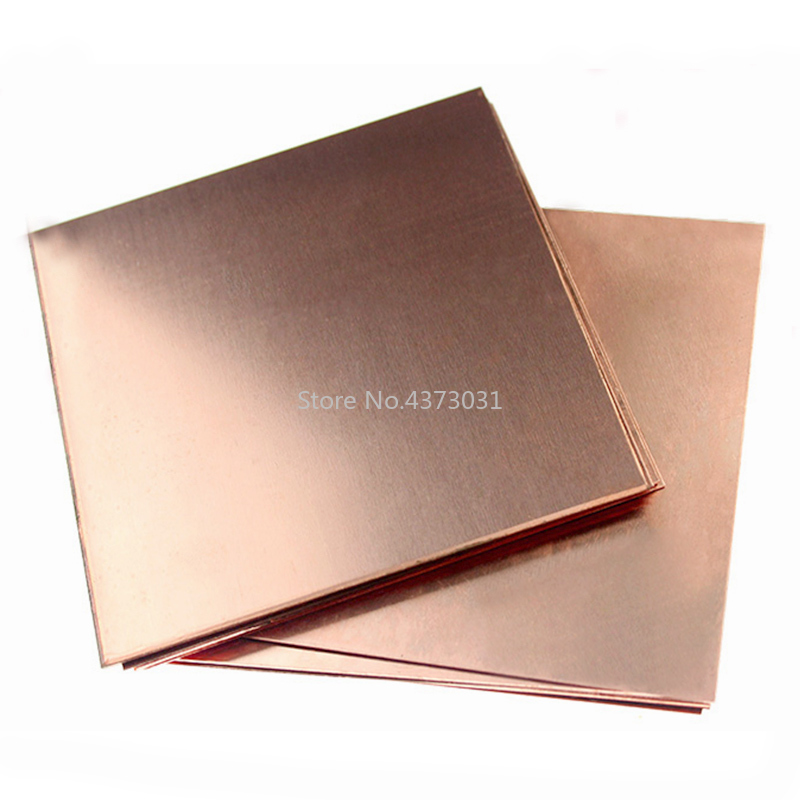 1pc DIY Handmade Material Copper Sheet Plate 99.9% Pure Copper Cu Metal Material 100*100mm