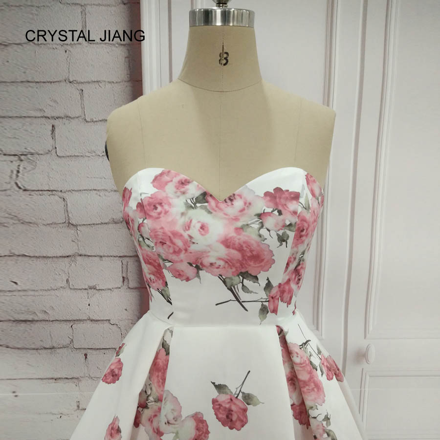 CRYSTAL JIANG 2018 Απλό σχέδιο γλυκιά Floral - Ειδικές φορέματα περίπτωσης - Φωτογραφία 5