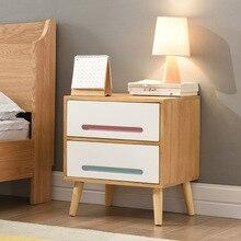 Тумбочки Спальня мебель сплошная деревянная прикроватная тумбочка стенд mesitas noche Nordic сбоку ночной столик komidin распродажа