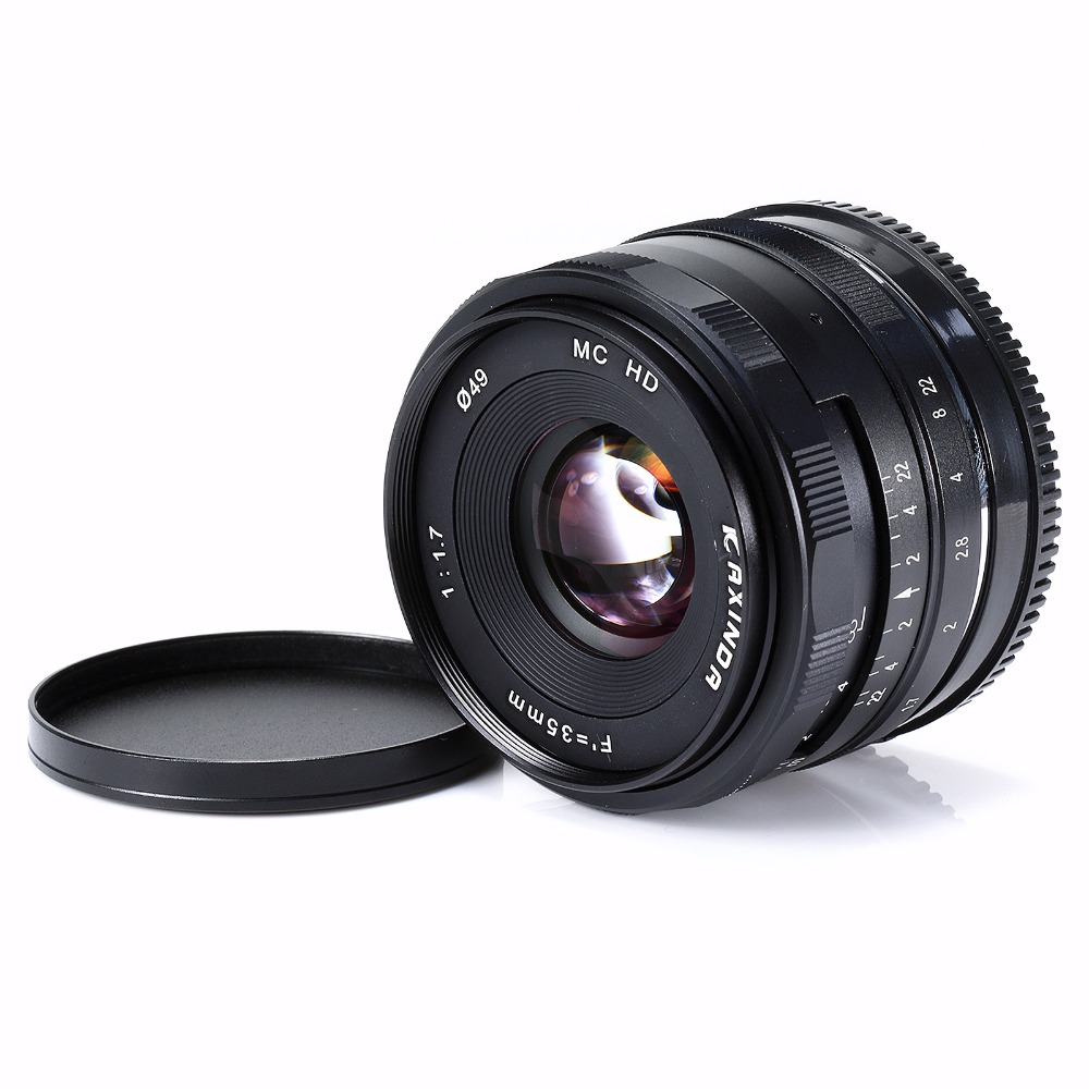 Kaxinda 35mm F/1.7 APS-C Manual Fixed Lens For Olympus Panasonic Micro 4/3 M4/3 MFT Mount Mirrorless Cameras black meike 12mm f 2 8 wide angle fixed lens with removeable hood for panasonic olympus mirrorless camera mft m4 3 mount with aps c