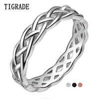 TIGRADE, 4 мм, 925 пробы, серебряное кольцо для женщин, кельтский узел, вечность, обручальное кольцо, высокое качество, полированное, классические, ...
