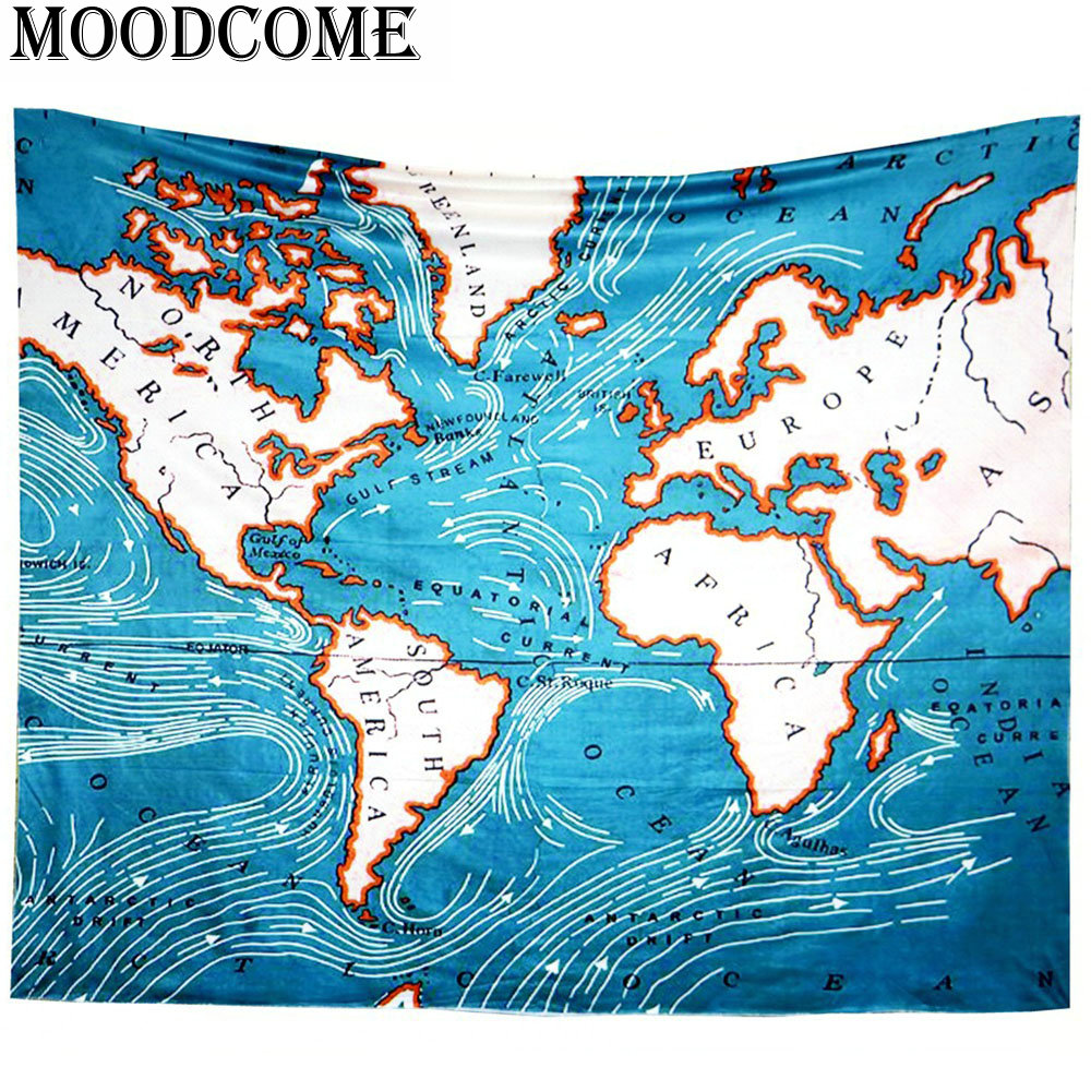 Aliexpress buy vintage world map wall fabric tapestry new aliexpress buy vintage world map wall fabric tapestry new arrival tapiz hippie boho blanket wall mandala tapestry from reliable world tapestry gumiabroncs Images
