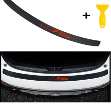 Carbon Fiber Styling After Guard Rear Bumper Trunk Plate Car .Accessories for VRS