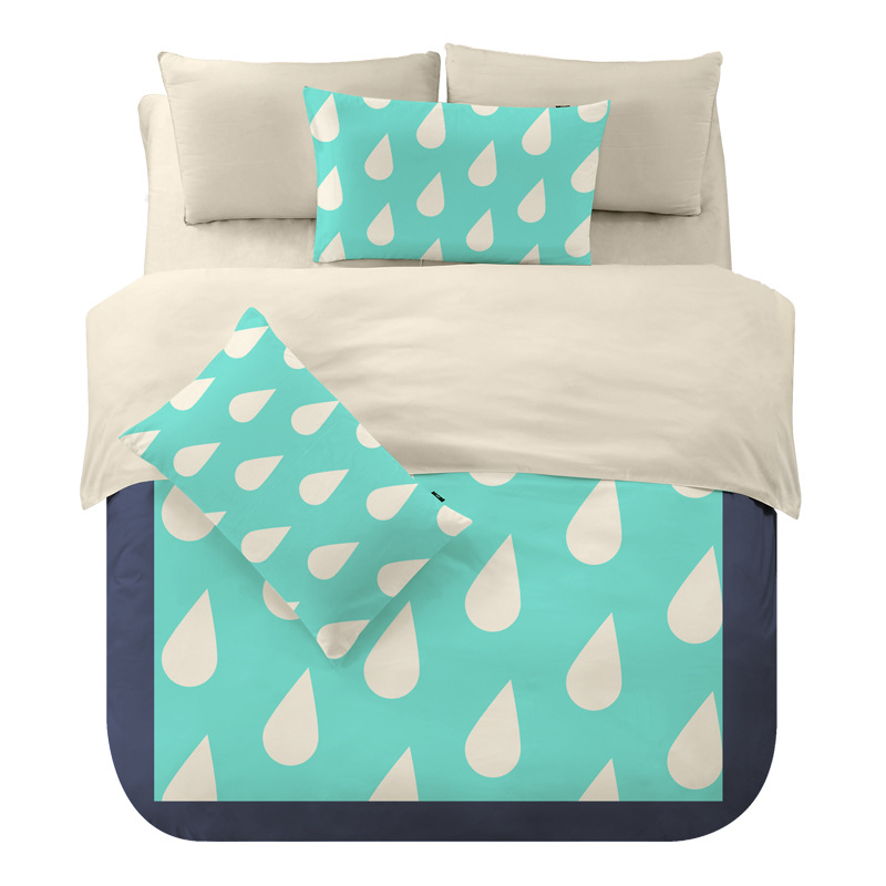 New Zebra Water Drop Patterns <font><b>Bed</b></font> Type or Mattress Cover Style Bedding Set Single Queen King Size