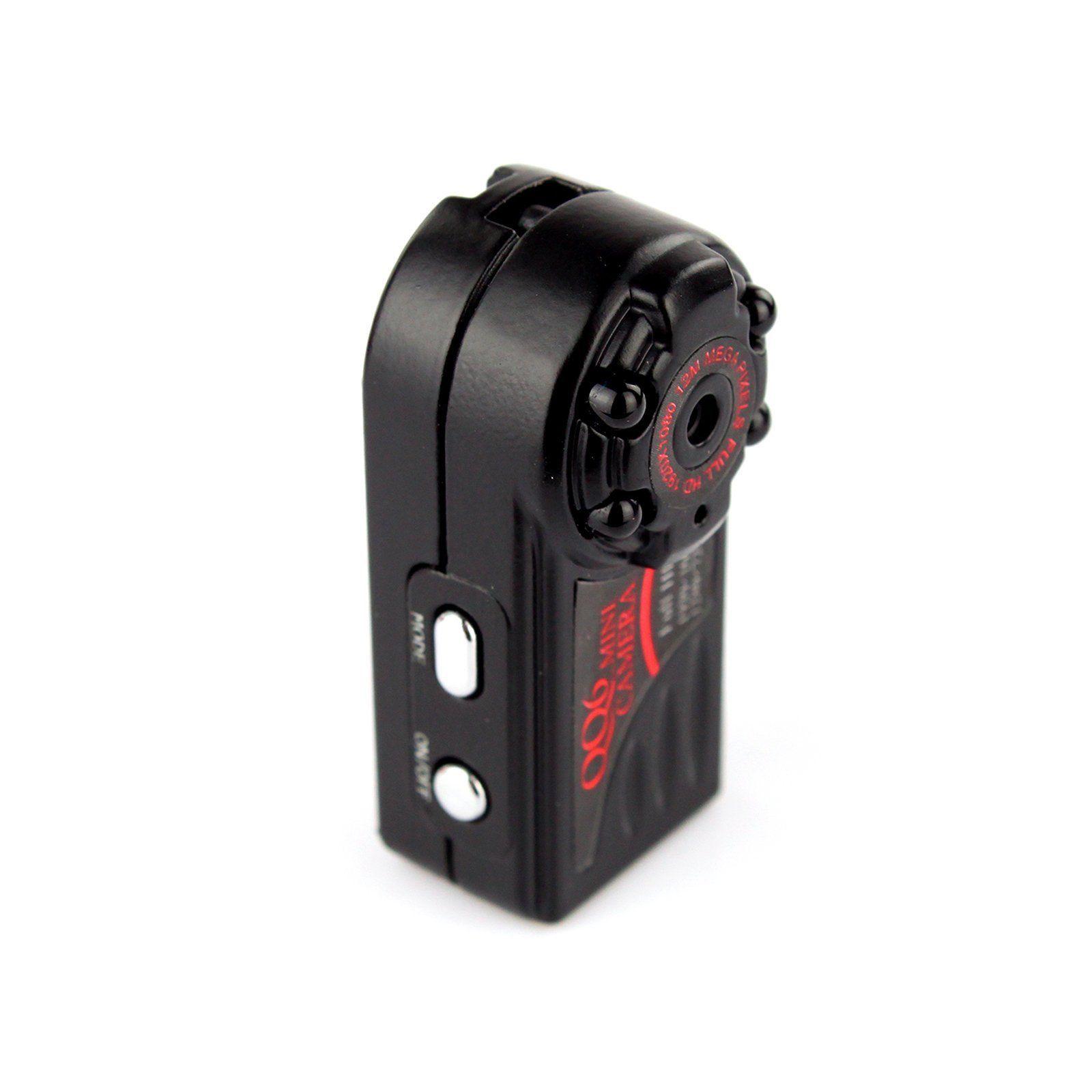 16GB Card+QQ6 Mini DV Full HD 1080P Digital Car Video Recorder Thumb Metal Mini Camera lc 08 mini dv headphone 1080p hd sport dv bluetooth headset stereo neck strap video recorder
