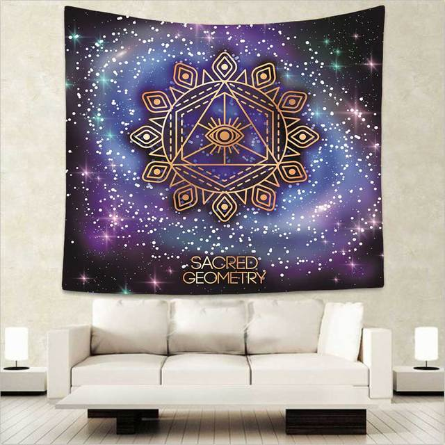 c6e532ed2 Cilected Sacred Geometry Tapestry Indian Mandala Printed Tapestries Wall  Hanging 100% Polyester Home Decorative Carpet 75x87cm