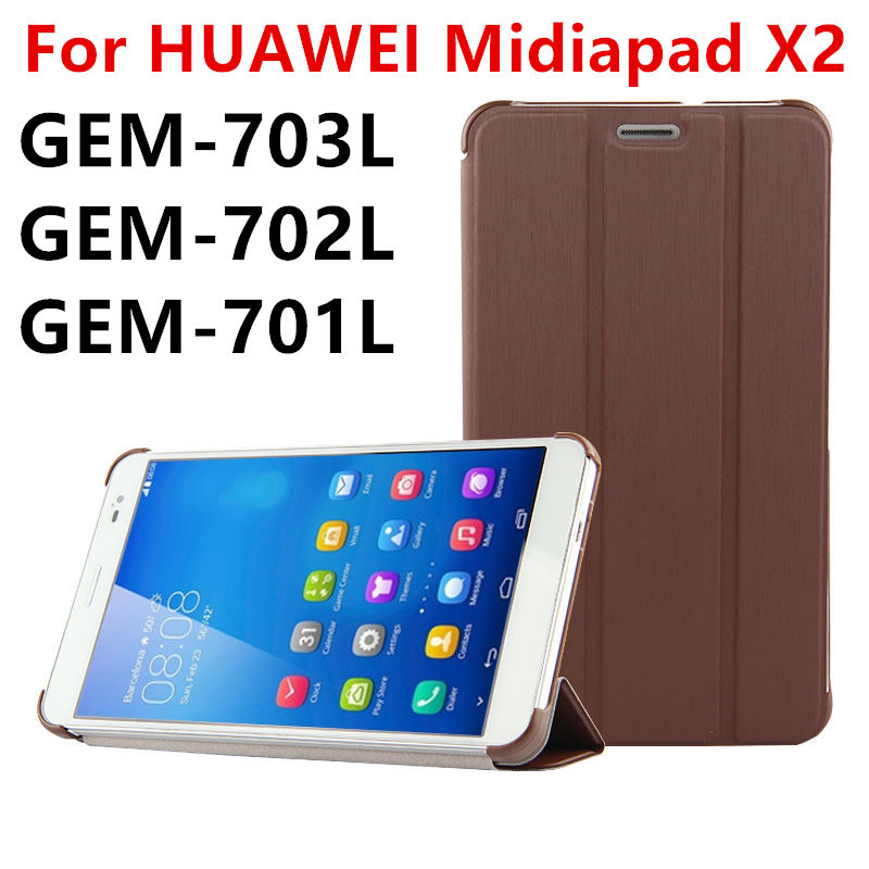 Case PU For Huawei MediaPad X2 Protective Smart cover Leather Tablet For HUAWEI Honor X2 GEM-703L GEM-702L GEM-701L Protector mediapad m3 lite 8 0 skin ultra slim cartoon stand pu leather case cover for huawei mediapad m3 lite 8 0 cpn w09 cpn al00 8