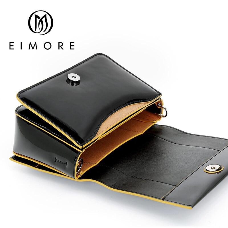 EIMORE 2019 mode femmes sacs à bandoulière en cuir véritable sac noir femmes épaule Mini sac en cuir Messenger dames sacs de fête - 6