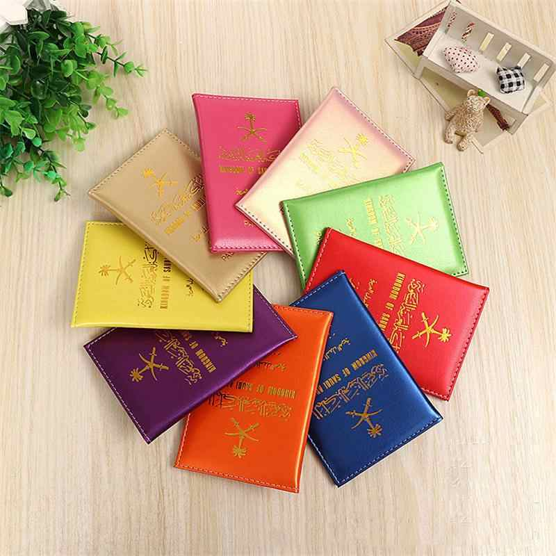f45cda5d3 ... Hot Saudi Arabia Travel Passport Cover Protector Business Protective  Passport Holder t Document Orgainzer Case for ...