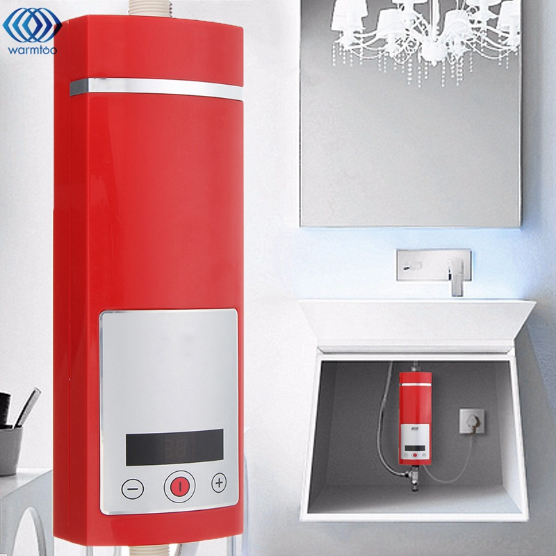 Electric Hot Water Heater 5500W Digital Display Instant Intelligent Temperature Control Touch Type Shower Room New Upgrade hot runner coil heater temperature control box with coil heater guaranted 100%