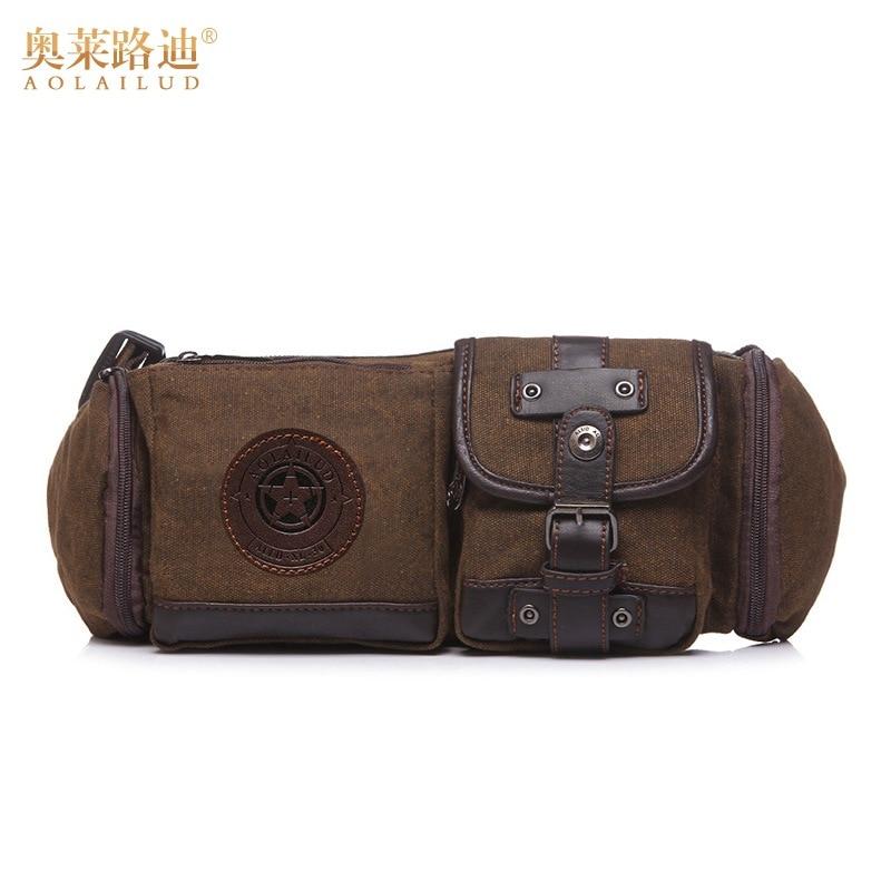 New Fashion Waterproof Canvas Waist Pack Belt Bag Casual Men Waist Bag Fanny Pack High Quality Men Bag Tough Wear