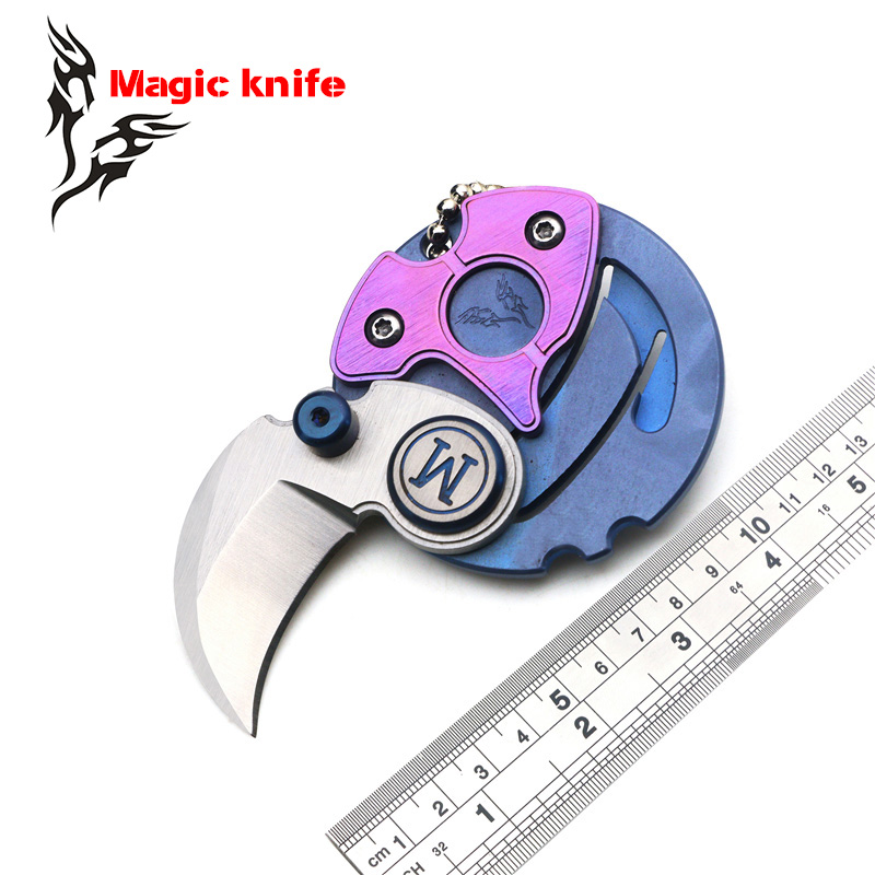 magic knife newest Coin folding knives D2 blade TC4 Titanium handle outdoor tactical Survival camping hunting EDC tools hot coin pocket folding knife m390 blade titanium handle camping survival knives outdoor tactical hunting keychain edc tool gift