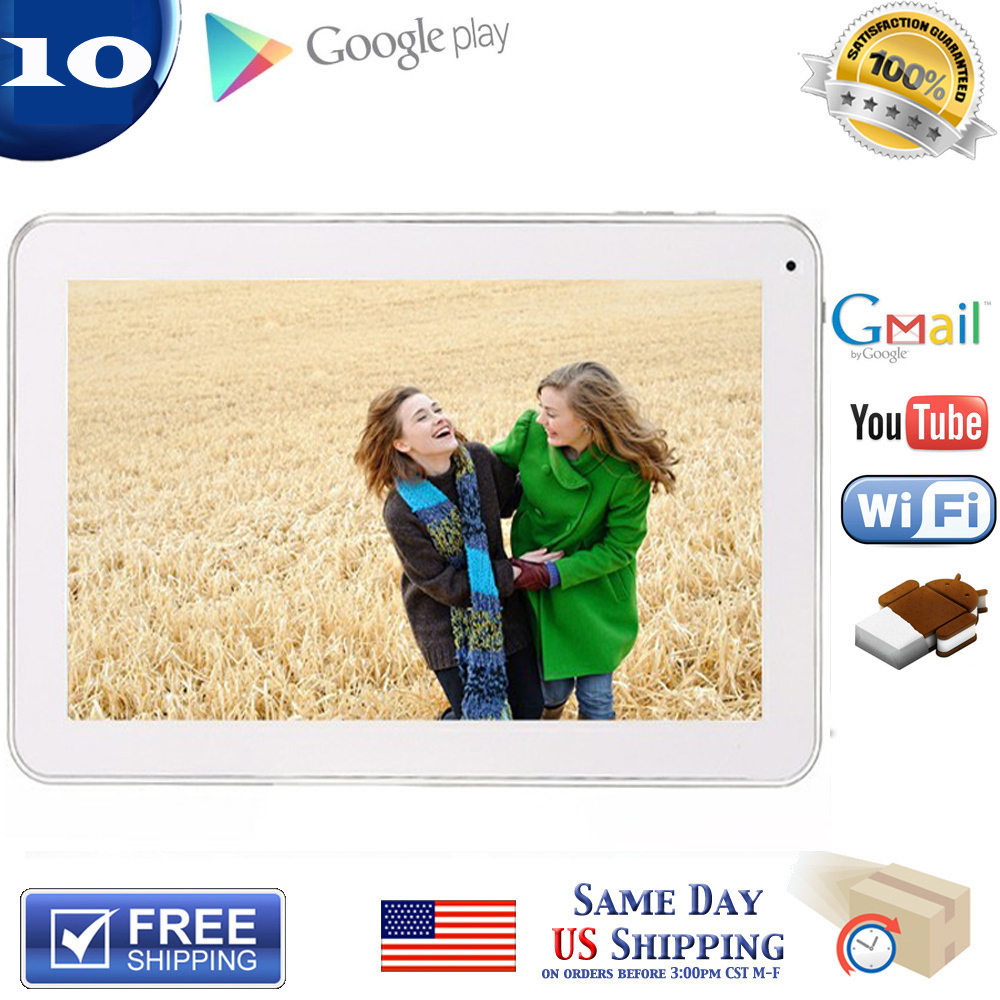 Wholesale factory 10. Android 4.2 Tablet PC Dual Core Allwinner A20 1.2GHz 8G/1G Capacitive Touch Scree HDMI Wifi Webcam