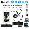 Chanseon Wifi эндоскоп камера для Iphone HD 8 мм Android IOS бороскоп водонепроницаемый жесткий Труба инспекции мини эндоскоп камера