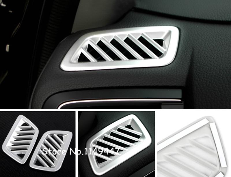 For Honda CRV CR-V 2017-2018 ABS Plastic Matte Interior Car Styling Upper Air Vent Outlet Cover Trim  2pcs