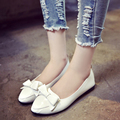 2017 Spring Autumn Ladies Fashion Bowknot Pointed Toe Flat Shoes Women Flats Casual Driving Shoes Loafers Pregnancy Shoes O2204