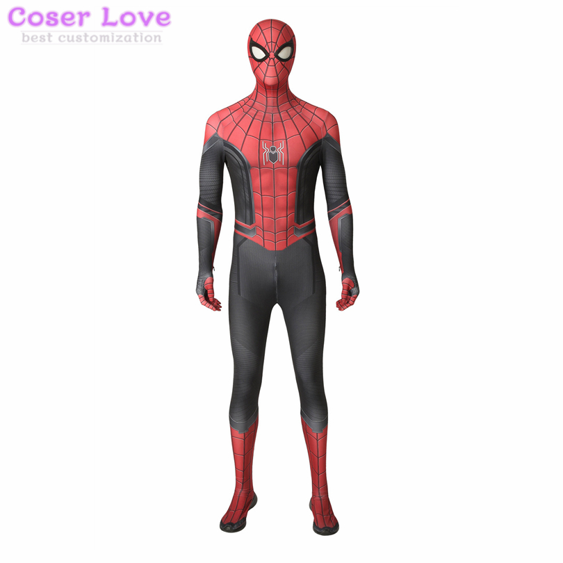 Spider-Man Far From Home Spider-Man Peter Parker jumpsuit Cosplay Costume Halloween Christmas Costume