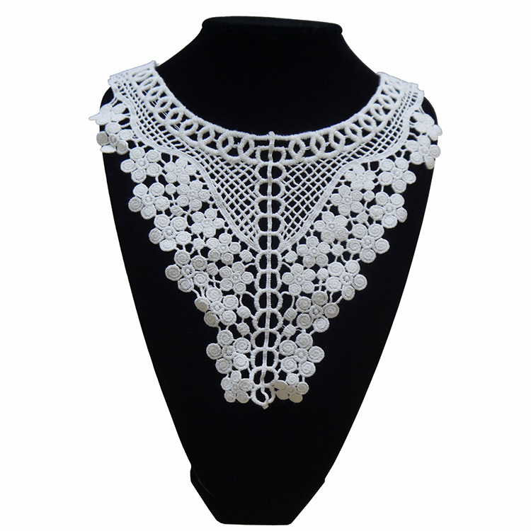 Exquisite Cotton Embroidery  Lace Collar Neckties Clothing DIY Decoration Accessories Collar