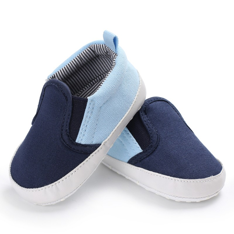 Fashion Canvas Striped Soft Soled Babe Loafer Sneakers Kids Boys Infant Toddler First Walkers Newborn Baby Shoes 0-18 Month