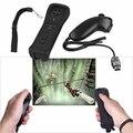 Bluetooth Remoto para el controlador de wii para Wii Remoto Controlador de Juego para Nintendo Negro Piel De Silicona Negro