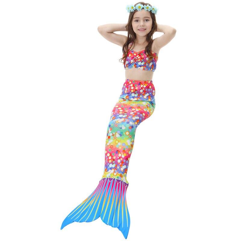 Baby Girls Mermaid Swimsuit Cosplay Costume Children Kids Mermaid Tails Bikini Swimwear Halloween Fancy Party Dress