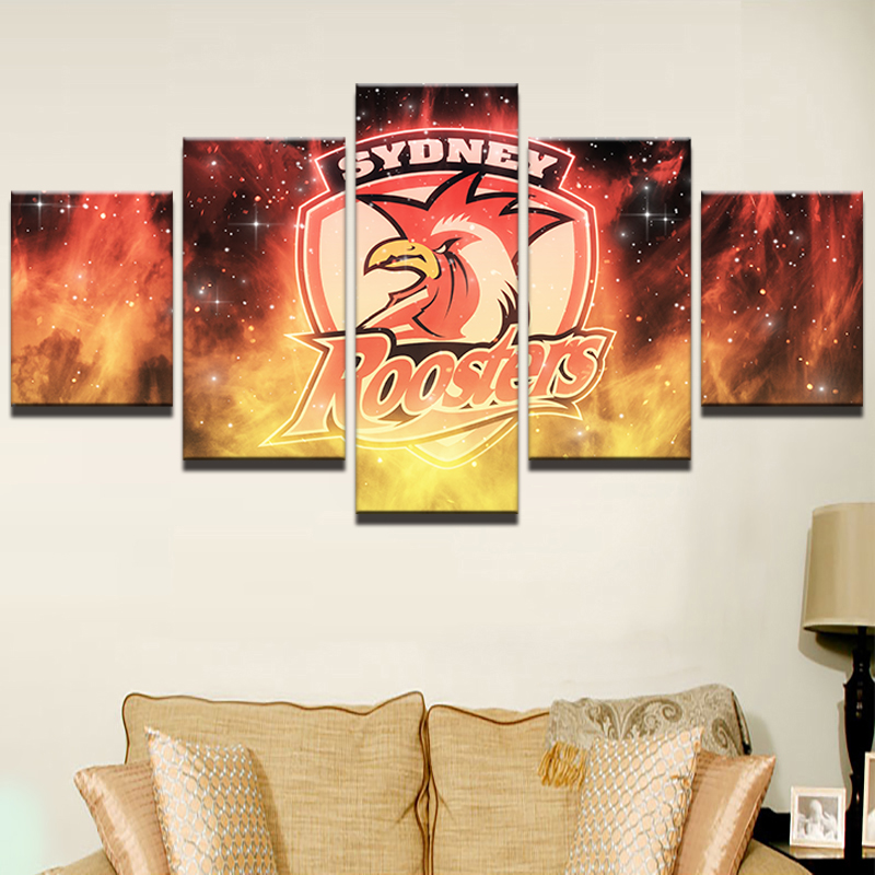 Modular Pictures Home Decor Canvas Painting Wall Pictures Frame Pengda 5 Panel Sport Rugby Football For