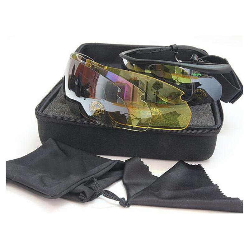 Prix pour Unisexe C2 Randonnée Lunettes Tactique Militaire Armée Lunettes de Chasse En Plein Air Lunettes 4 lentilles tactique lunettes