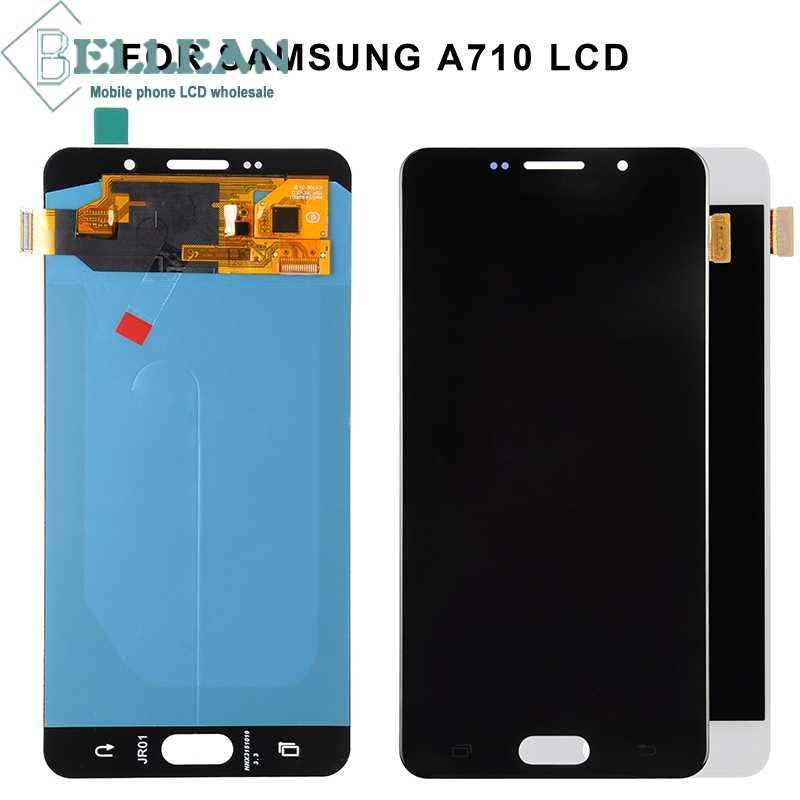 Dinamico تعزيز قطع غيار سامسونج غالاكسي A7 2016 Lcd A710F عرض مع مجموعة المحولات الرقمية لشاشة تعمل بلمس A710 LCD + أدوات