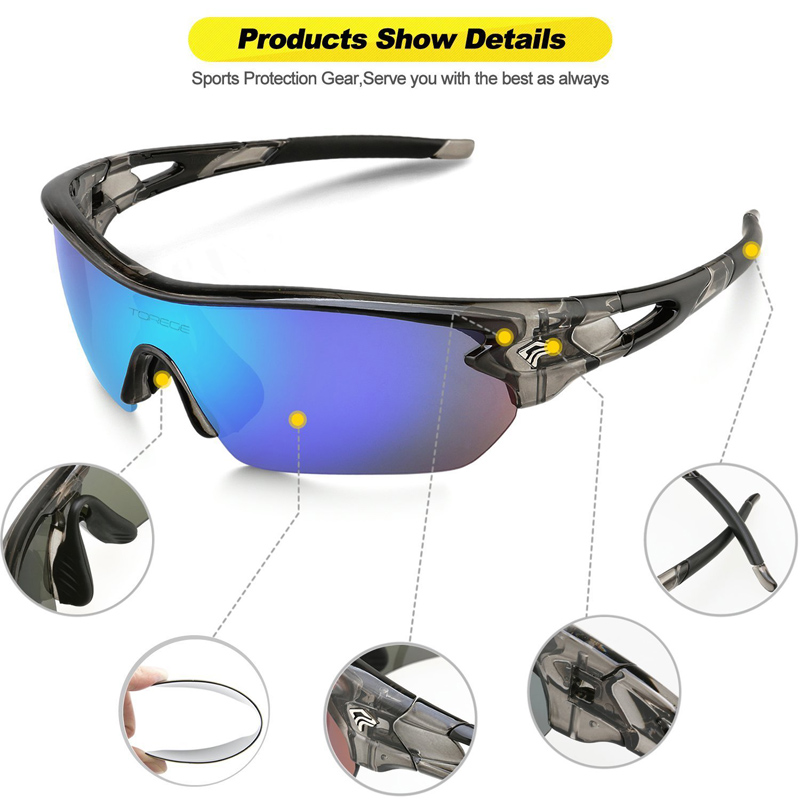 262940b7de Fashion Polarized Sports Sunglasses for Men Women Climbing Driving ...