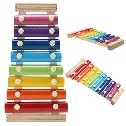 Instrumento musical de Brinquedo De Madeira Quadro Estilo Crianças Xilofone Musical Crianças Brinquedos Engraçados Brinquedos Educacionais Do Bebê Presentes