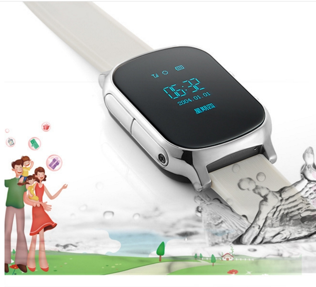 GPS font b smart b font watch baby watch T90 with Wifi touch screen SOS Call