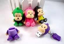 500pcs/lot Cartoon monkey usb flash drive 4gb 8gb 16gb 32gb pen drive pendrives usb memory stick aceept mix gift usb
