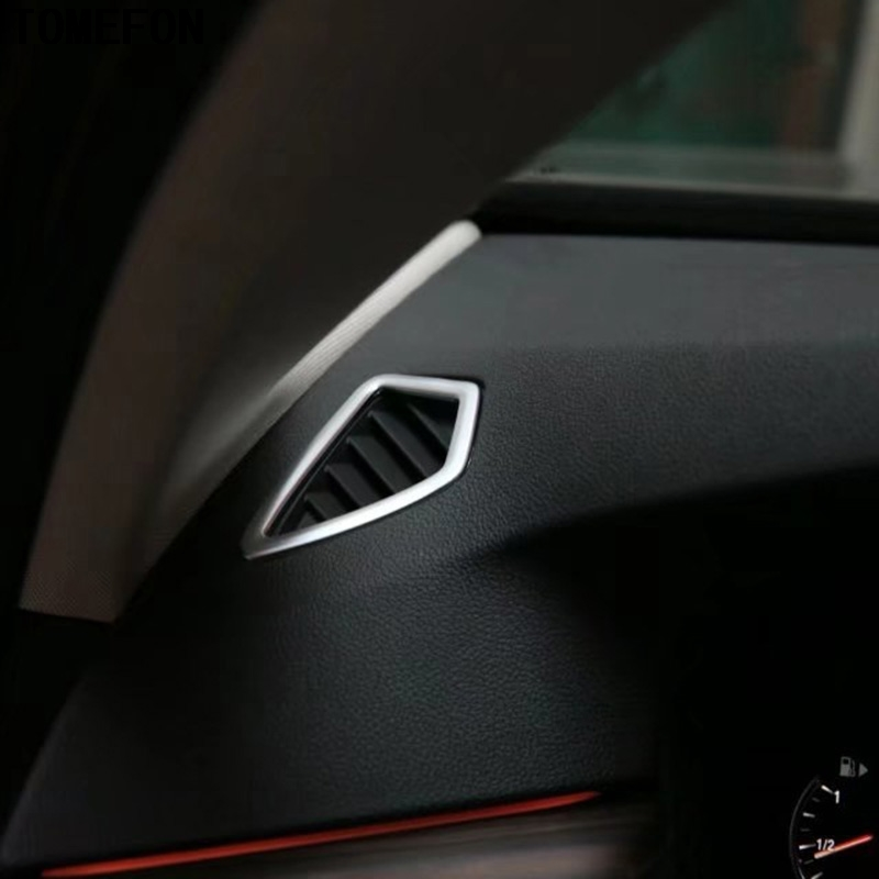 2Pcs Chrome Car Dashboard Air Vent Outlet Frame Cover Trim For BMW X5 f15 LHD