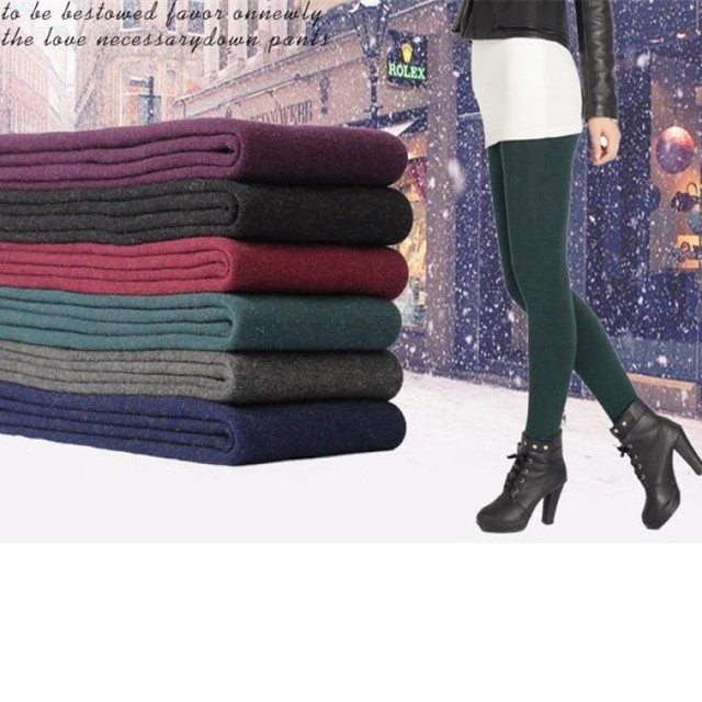 2018 New Fashion Women's Autumn And Winter Warm Leggings High Waist Elastic And Good Quality Thick Velvet Warm Lurex Leggings