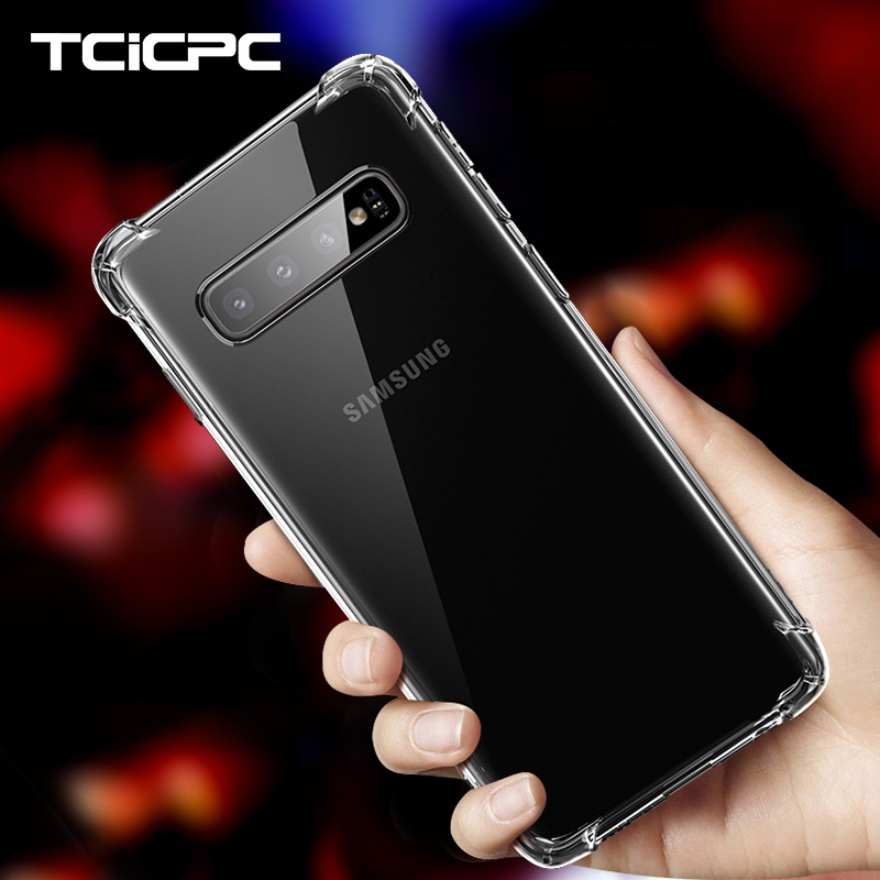 For Samsung S10 Plus Case For Samsung Galaxy S10 Cases Slim Anti Knock Transparent TPU Soft Cover For Galaxy S10E S10 + Funda(China)