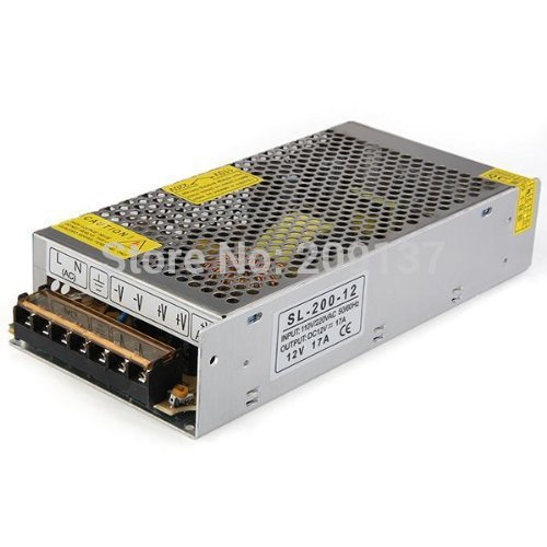 6X 110V/220V 12V 16.7A 200W adapter Transformers Driver Led switch transformer DC5V/12V/24V for LED strip 5050 5730 power supply