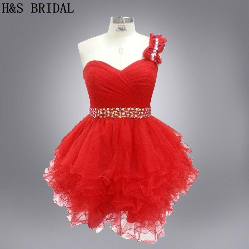 Real photo red color Lovely Puff   Girl     Dresses   Waist Beaded   flower     girl     dress