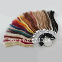 1 Piece Free Shipping 43 Colors 100% Remy Human Hair Color Chart Can be Customized Hair Extension Tools Accessories Color Rings