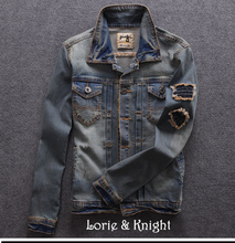 Men's Spring/Autumn Jeans Jacket Vintage Blue Slim Fit Casual Jacket