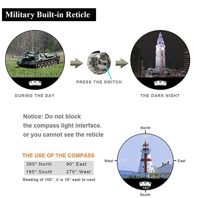 dwaterproof água grande rangefinder bússola poderosa profissional militar caça hd marinha