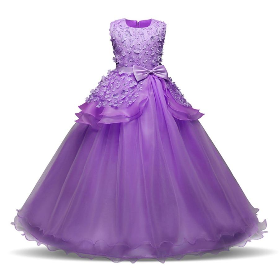 Summer Flower Girl <font><b>Dress</b></font> for Kids Girls Clothes Kid <font><b>Dresses</b></font> 2018 Party Princess Vestidos <font><b>Nina</b></font> 6 7 8 year Birthday Prom <font><b>Dress</b></font>