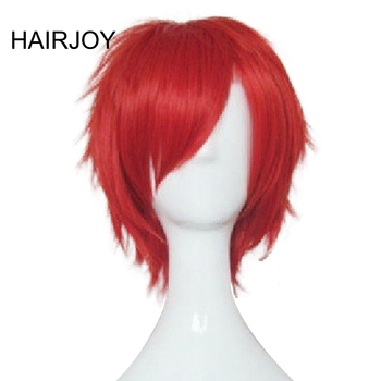 HAIRJOY Red Green Blue Brown Pink Orange Cosplay Wig Man's Layered  Short Straight Synthetic Hair Wigs   Free Shipping цена 2017