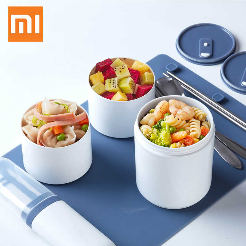 Xiaomi 990ml Lunch Box 3Layer Bento Box Food Container Box Plastic PP Microwave Dinnerware Food Storage Lunchbox Travel Picnic
