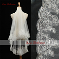 2016 Selling Lowest Price Wedding Veil One-layer 1.5 meters White/Ivory Long Lace Edge Bridal Veils Women Wedding Accessories