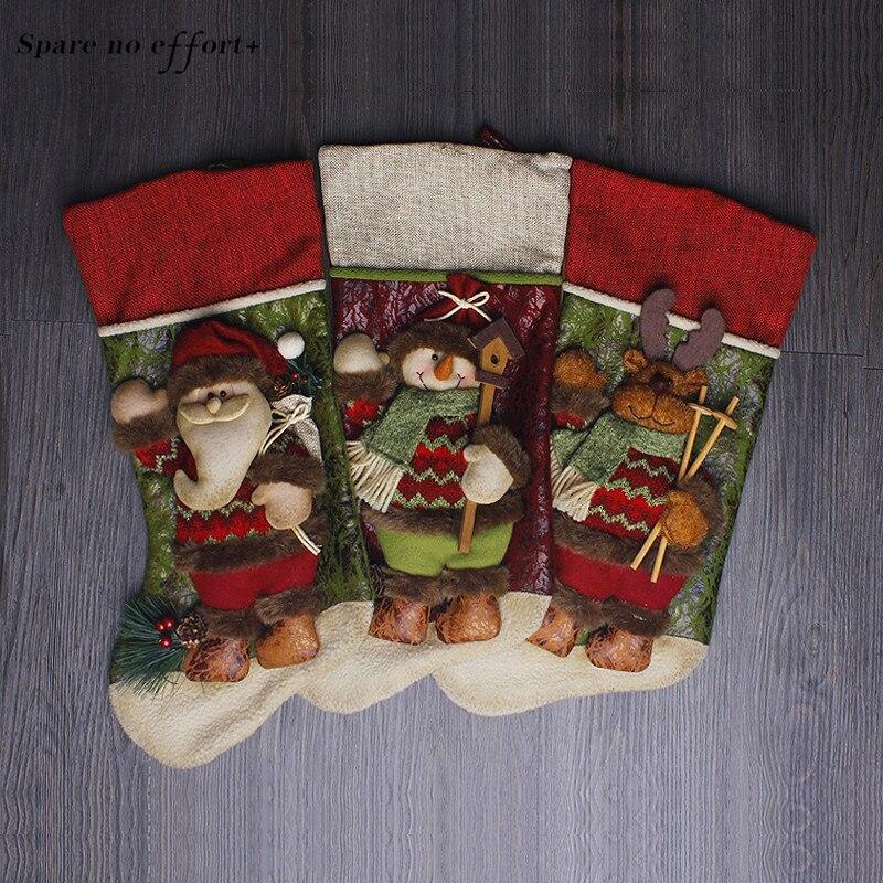 Regalo de Navidad bolsa Santa Navidad Claus niños regalo bolsa decoración de Navidad caramelo ornamentos suministros